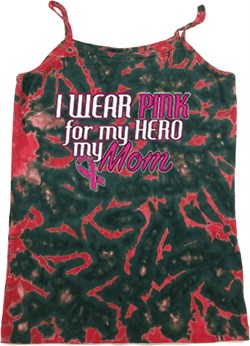 Image of Breast Cancer Pink for My Hero Ladies Tie Dye Camisole Tank Top