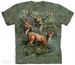 Image of Buck Collage Shirt Tie Dye Adult T-Shirt Tee