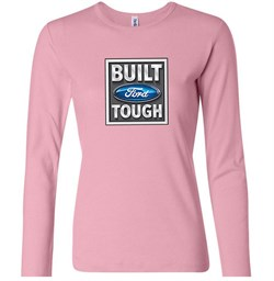 Image of Built Ford Tough Shirt Ford Logo Ladies Long Sleeve Tee T-Shirt