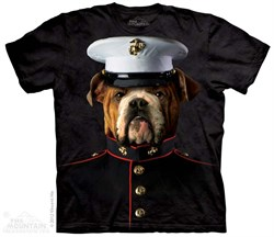 Image of Bulldog Marine Shirt Tie Dye Adult T-Shirt Tee