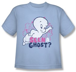Image of Casper The Friendly Ghost Shirt Kids Seen A Ghost Light Blue Youth Tee