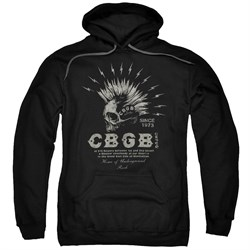 Image of CBGB Hoodie Electric Skull Black Sweatshirt Hoody