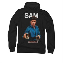 Image of Cheers Sam Hoodie Sweatshirt Black Adult Hoody Sweat Shirt