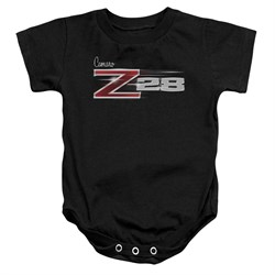 Image of Chevy Baby Romper Camaro Z28 Logo Black Infant Babies Creeper