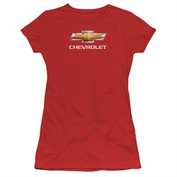 Image of Chevy Juniors Shirt Bow Tie Red T-Shirt