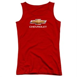 Image of Chevy Juniors Tank Top Bow Tie Red Tanktop