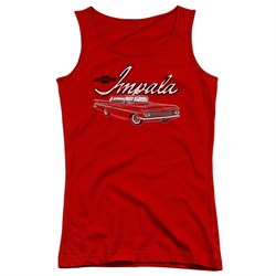Image of Chevy Juniors Tank Top Impala Red Tanktop
