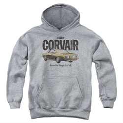 Chevy Kids Hoodie Retro Corvair Sports Grey Youth Hoody