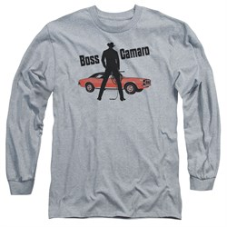 Chevy Long Sleeve Shirt Boss Sports Grey Tee T-Shirt