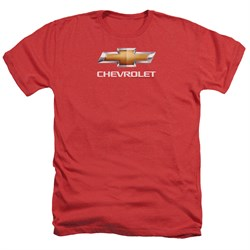 Image of Chevy Shirt Bow Tie Heather Red T-Shirt