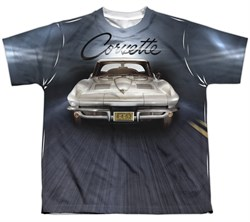 Chevy Shirt Corvette Sting Ray Sublimation Youth Shirt Front/Back Print