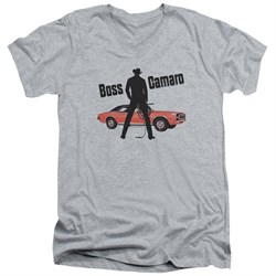 Chevy Slim Fit V-Neck Shirt Boss Sports Grey T-Shirt