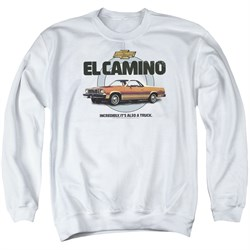 Image of Chevy Sweatshirt Also A Truck Adult White Sweat Shirt