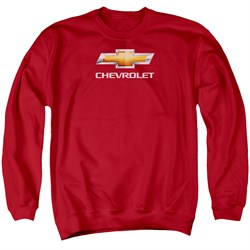 Chevy Sweatshirt Bow Tie Adult Red Sweat Shirt