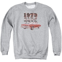 Image of Chevy Sweatshirt Car Of The Year Adult Sports Grey Sweat Shirt