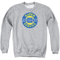 Image of Chevy Sweatshirt Super Service Adult Athletic Heather Sweat Shirt