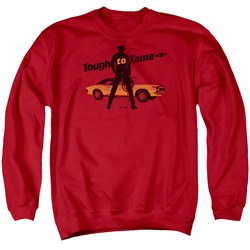 Image of Chevy Sweatshirt Tough To Tame Adult Red Sweat Shirt