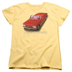 Image of Chevy Womens Shirt 1962 Corvair Banana T-Shirt