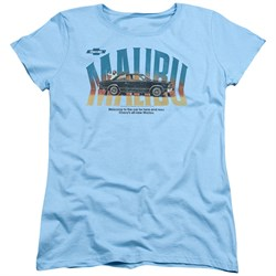 Chevy Womens Shirt Malibu Light Blue T-Shirt