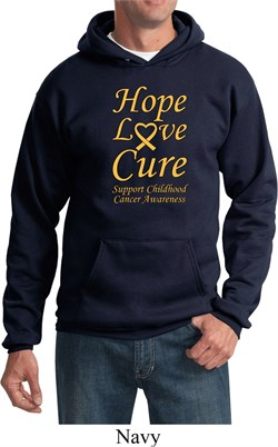 Image of Childhood Cancer Awareness Hope Love Cure Hoodie