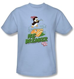 Image of Chilly Willy Kids T-shirt TV Show Ice Breaker Light Blue Shirt Youth