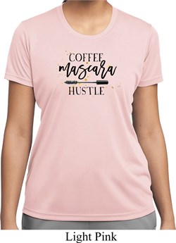 Image of Coffee Mascara Hustle Ladies Moisture Wicking Shirt