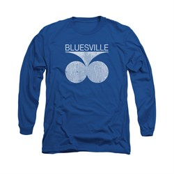 Image of Concord Music Group Shirt Bluesville Long Sleeve Royal Tee T-Shirt
