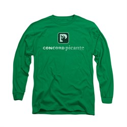 Concord Music Group Shirt Picante Distressed Long Sleeve Kelly Green Tee T-Shirt
