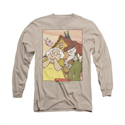 Image of Courage The Cowardly Dog Shirt Gothic Courage Long Sleeve Sand Tee T-Shirt