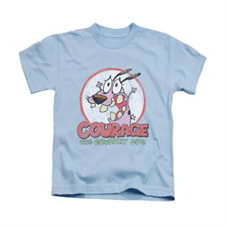 Courage The Cowardly Dog Shirt Kids Vintage Courage Light Blue Youth Tee T-Shirt