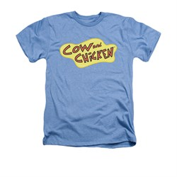 Cow & Chicken Shirt Logo Adult Heather Light Blue Tee T-Shirt