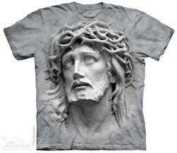Image of Crown Of Thorns Sculpture Shirt Tie Dye Adult T-Shirt Tee