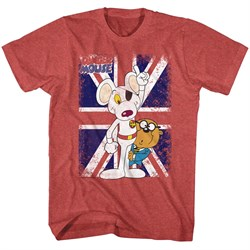 Distressed | T-Shirt | Danger | Mouse | Shirt | Flag | Red