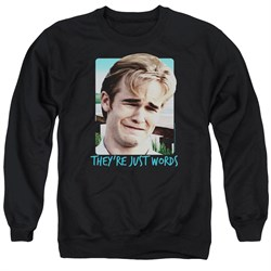 Image of Dawson's Creek Sweatshirt They're Just Words Adult Black Sweat Shirt