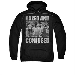 Dazed And Confused Hoodie Sweatshirt Rock On Black Adult Hoody Sweat Shirt