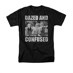 Image of Dazed And Confused Shirt Rock On Adult Black Tee T-Shirt