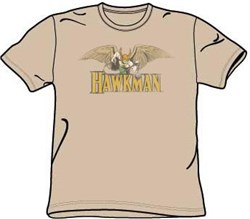 Hawkman T-shirt - Hawkman Superhero Adult Sand Color Tee