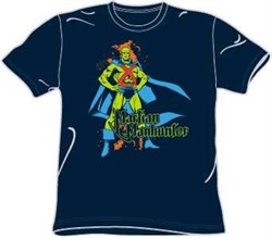 Martian Manhunter T-shirt - DC Comics Adult Navy Blue Tee