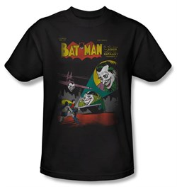 Image of Batman Kids T-Shirt - Batman vs. Joker Wrong Signal Youth Black Tee