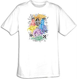 Superhero T-shirt - DC Comics Super Heroines Adult White Tee