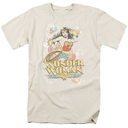 Wonder Woman T-shirt - DC Comics Strength Adult Cream Color Tee