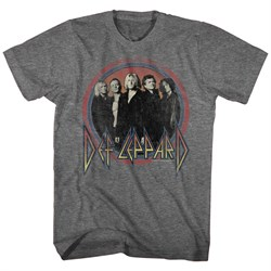 Image of Def Leppard Shirt Band Members Dark Heather Grey T-Shirt