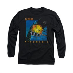 Image of Def Leppard Shirt Pyromania Long Sleeve Black Tee T-Shirt