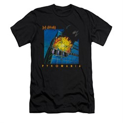 Image of Def Leppard Shirt Slim Fit Pyromania Black T-Shirt