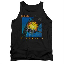Image of Def Leppard Shirt Tank Top Pyromania Black Tanktop