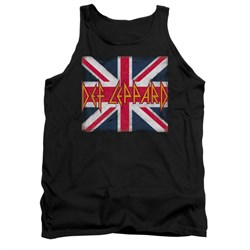 Image of Def Leppard Shirt Tank Top Union Jack Black Tanktop