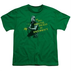 Delta Force 2 Kids Shirt Special Diplomacy Kelly Green T-Shirt