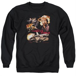 Image of Delta Force Sweatshirt Action Pack Adult Black Sweat Shirt