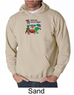 Image of Vegan Sweatshirt - Dewey Says Hoodie Eat Your Veggies Adult Hoody