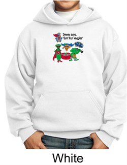Image of Vegan Kids Hoodie Sweatshirt ? Eat Your Veggies Youth Hoody